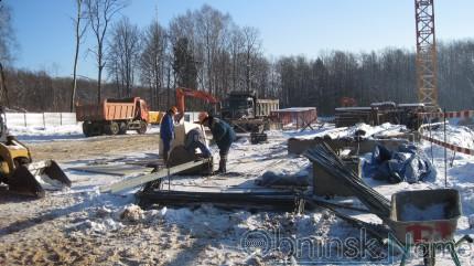 Строительная площадка ледового дворца в Обнинске