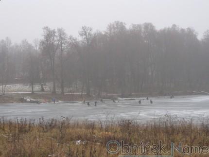 Зимняя рыбалка в Обнинске
